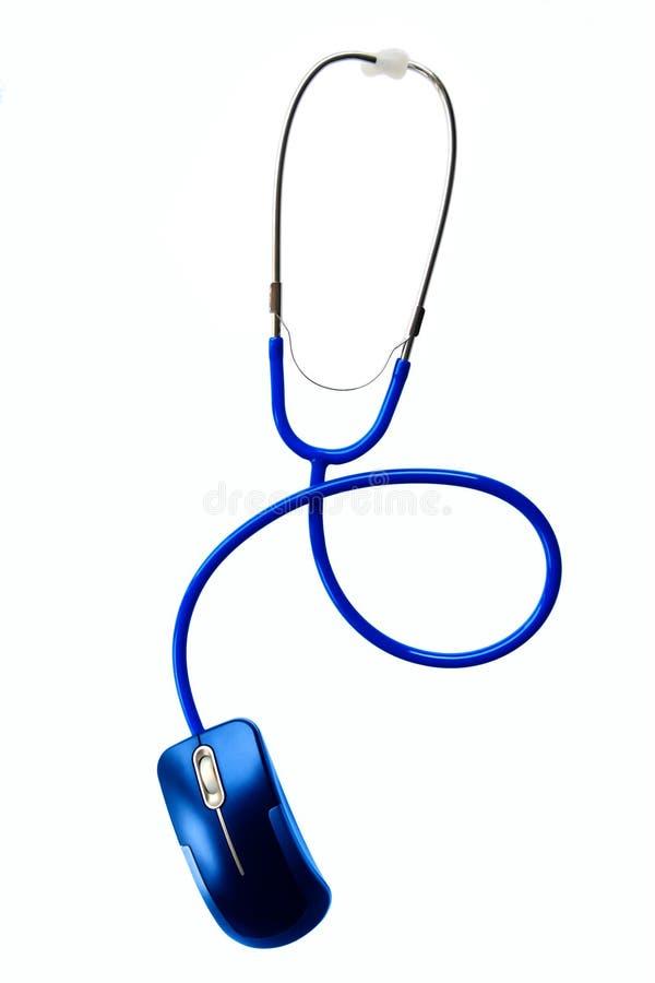 Medizin und Technologie - Stethoskop und der Maus lizenzfreie stockfotografie