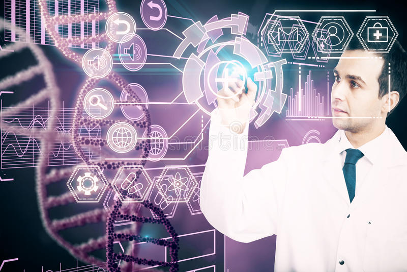 Medizin- und Zukunftkonzept lizenzfreies stockbild