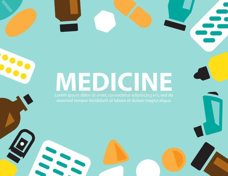 Medizin, Vektorhintergrund lizenzfreie abbildung