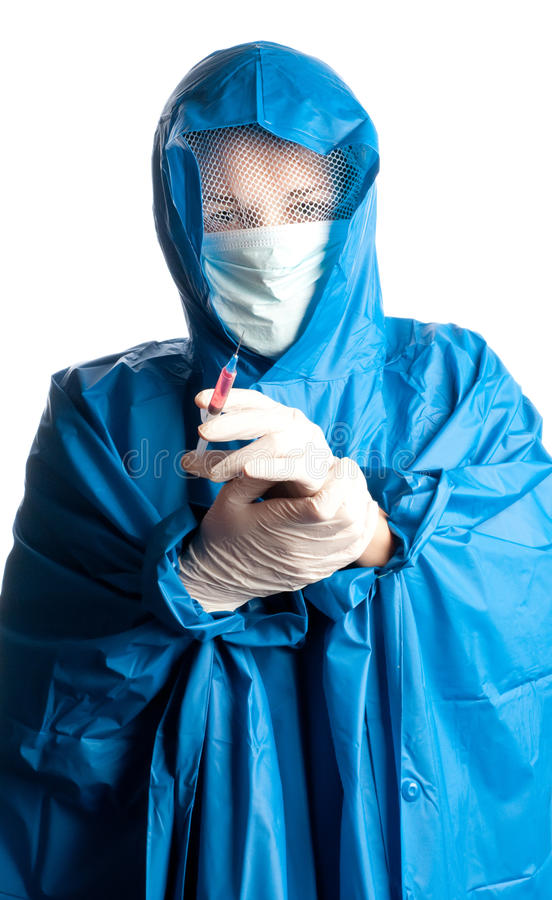 Medizindoktor mit Impfstoff lizenzfreie stockbilder