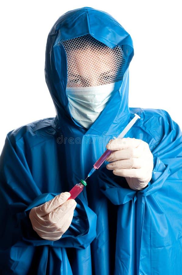 Medizindoktor mit Impfstoff lizenzfreies stockfoto
