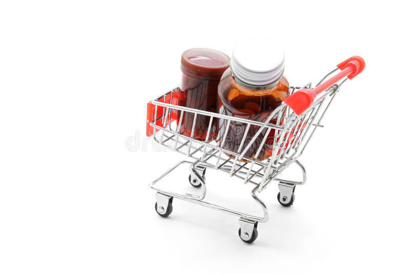 Medizineinkaufen lizenzfreie stockfotografie