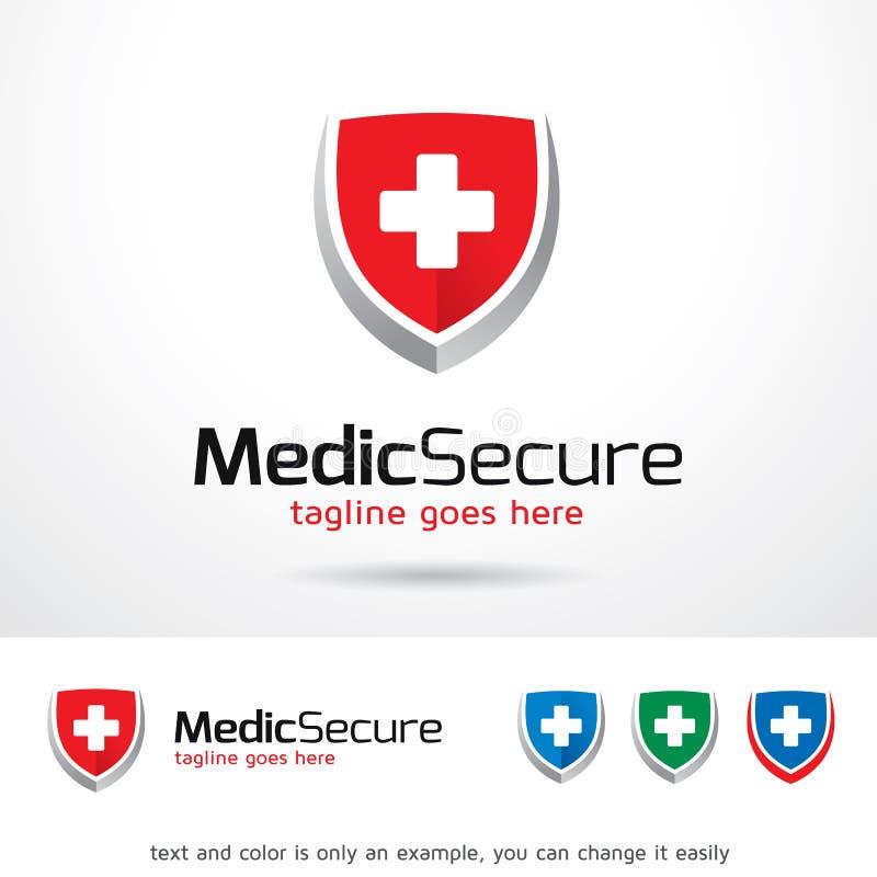 Mediziner Secure Logo Template Design Vector lizenzfreie abbildung