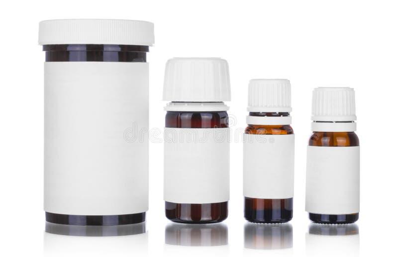 Medizinflaschen getrennt stockfoto