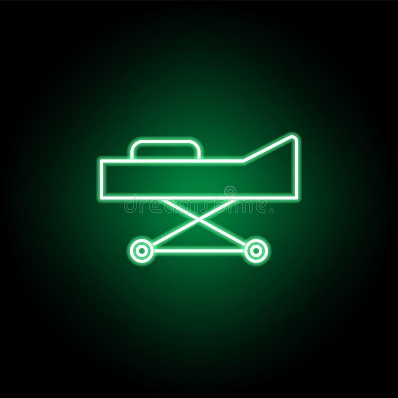 Medizinisch, Bahrenikone in der Neonart Element der Medizinillustration Zeichen und Symbolikone k?nnen f?r Netz, Logo, Mobile ben lizenzfreie abbildung