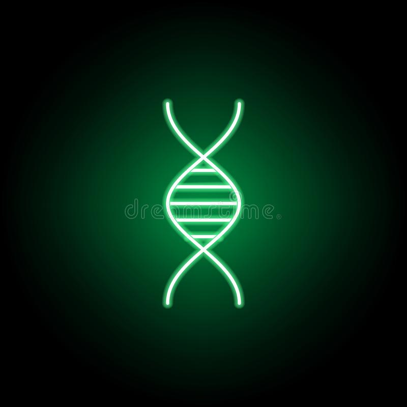 Medizinisch, DNA-Ikone in der Neonart Element der Medizinillustration Zeichen und Symbolikone k?nnen f?r Netz, Logo, mobiler App  lizenzfreie abbildung