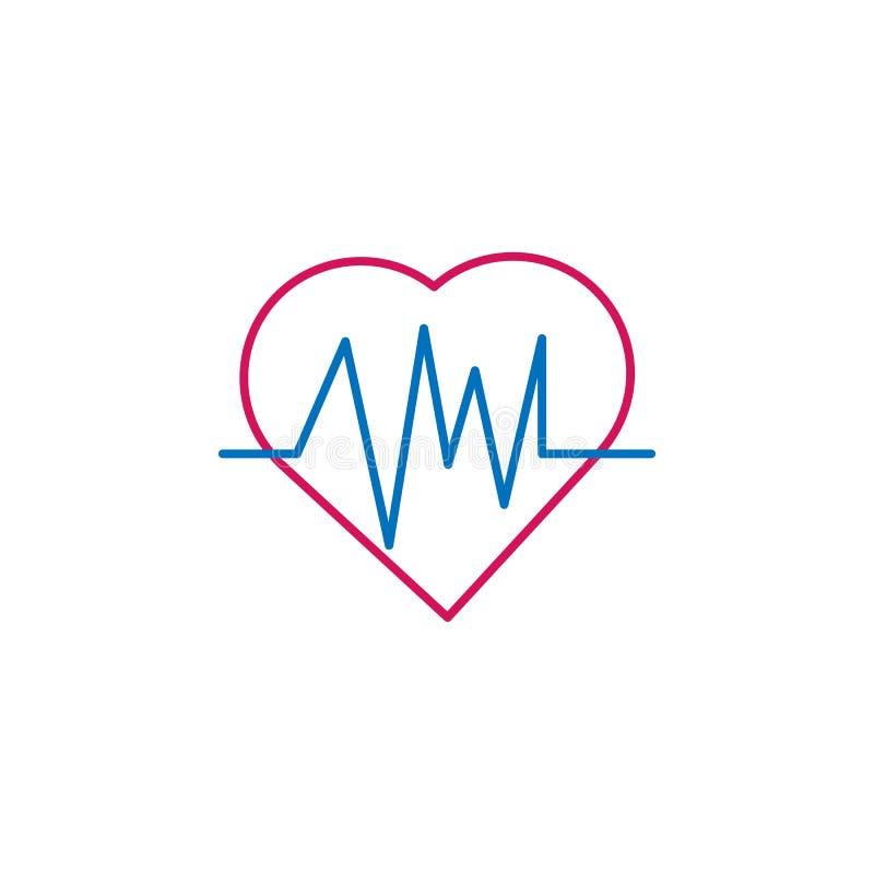 Medizinisch, färbte Kardiogramm Ikone Element der Medizinillustration Zeichen und Symbolikone können für Netz, Logo, mobiler App  stock abbildung