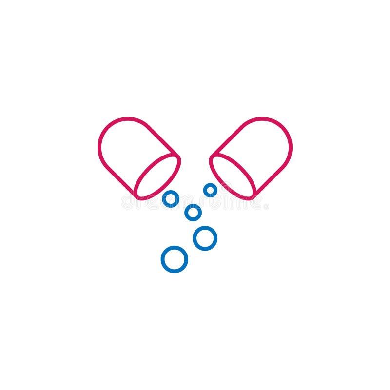 Medizinisch, färbte Pille Ikone Element der Medizinillustration Zeichen und Symbolikone können für Netz, Logo, mobiler App, UI, U stock abbildung