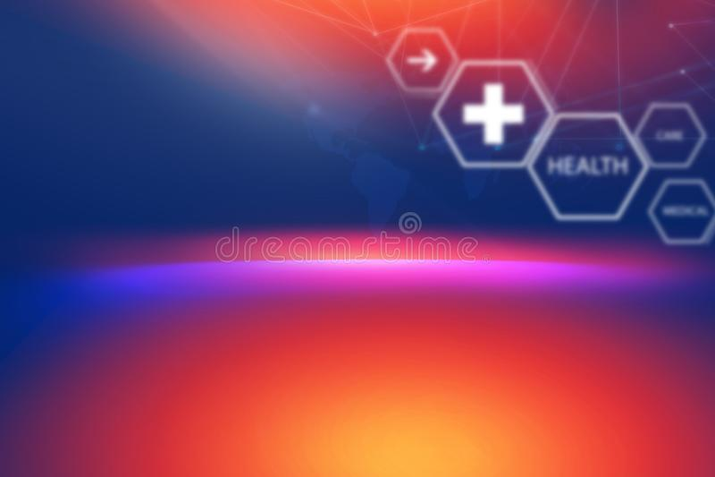 Medizinische abstrakte Hintergrund-Konzept-Reihe lizenzfreie abbildung