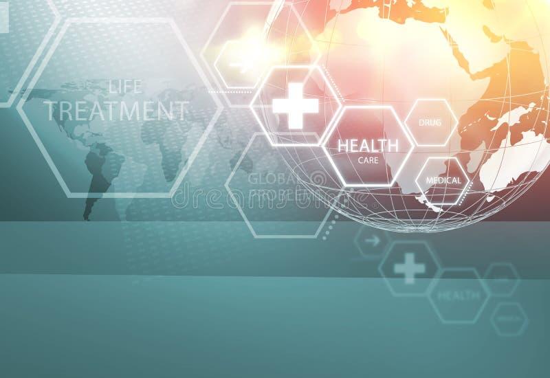Medizinische abstrakte Hintergrund-Konzept-Reihe 100 vektor abbildung