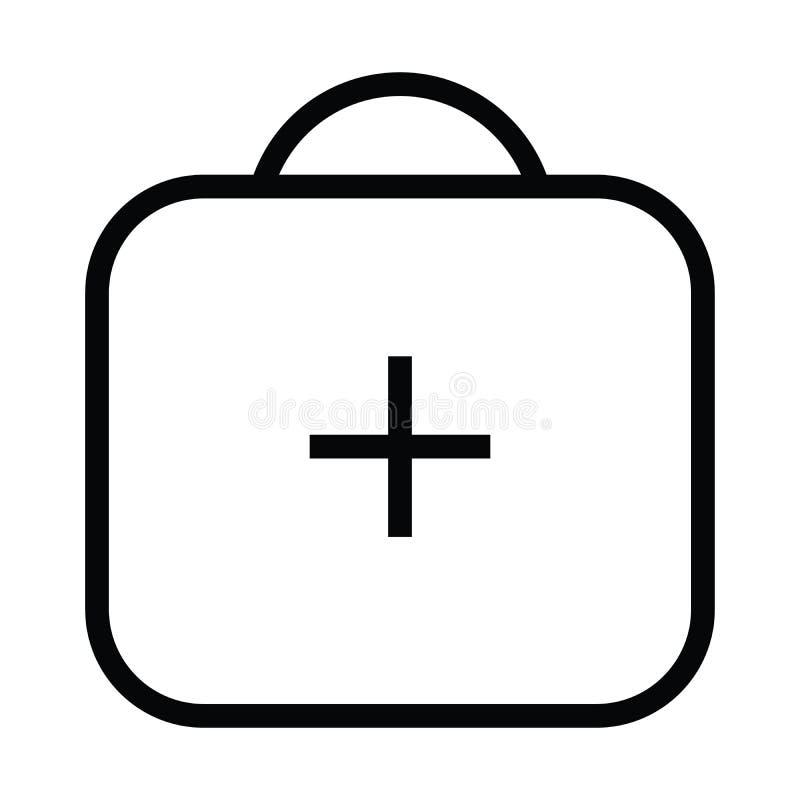 Medizinische Aktenkoffergesundheitsikone mit Entwurfsart stock abbildung