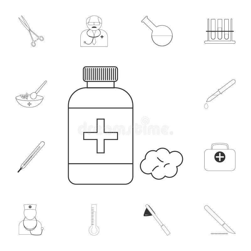 Medizinische Alkoholikone Einfache Elementillustration Medizinisches Alkoholsymboldesign vom medizinischen Sammlungssatz Kann für stock abbildung