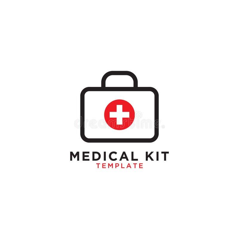 Medizinische Ausrüstungs-Grafikschablone der ersten Hilfe lizenzfreie abbildung