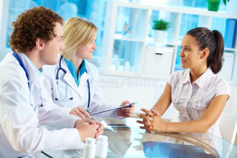 Medizinische Beratung stockfoto
