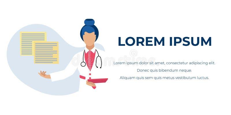 Medizinische Beratungs-Online-Werbungs-Fahne stock abbildung