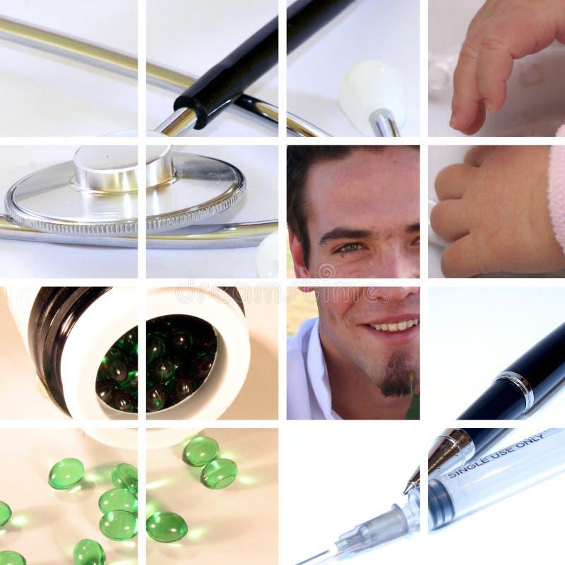 Medizinische Collage lizenzfreie stockfotos
