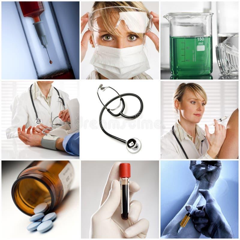 Medizinische Collage stockbilder