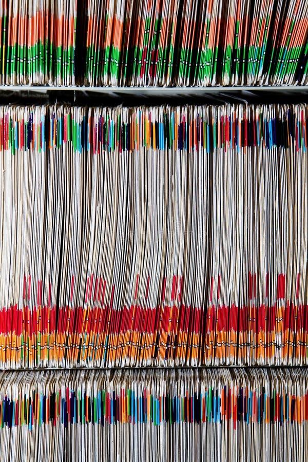 Medizinische Dateien lizenzfreie stockfotos