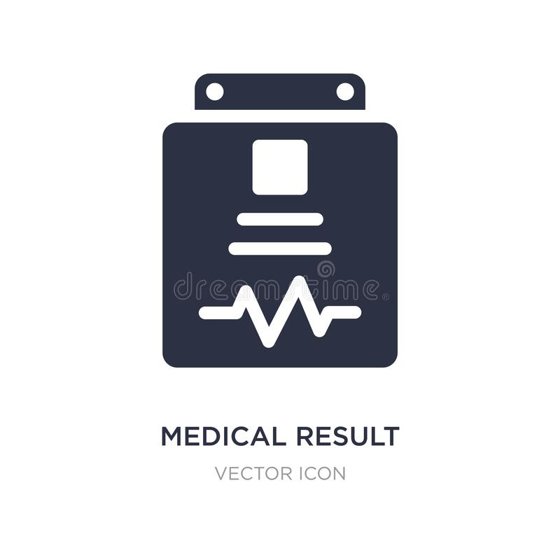medizinische Ergebnisikone auf weißem Hintergrund Einfache Elementillustration von der Gesundheit und vom medizinischen Konzept lizenzfreie abbildung