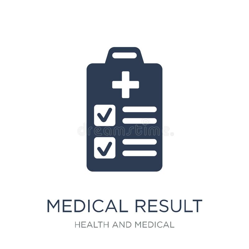 medizinische Ergebnisikone Medizinische Ergebnisikone des modischen flachen Vektors auf w stock abbildung