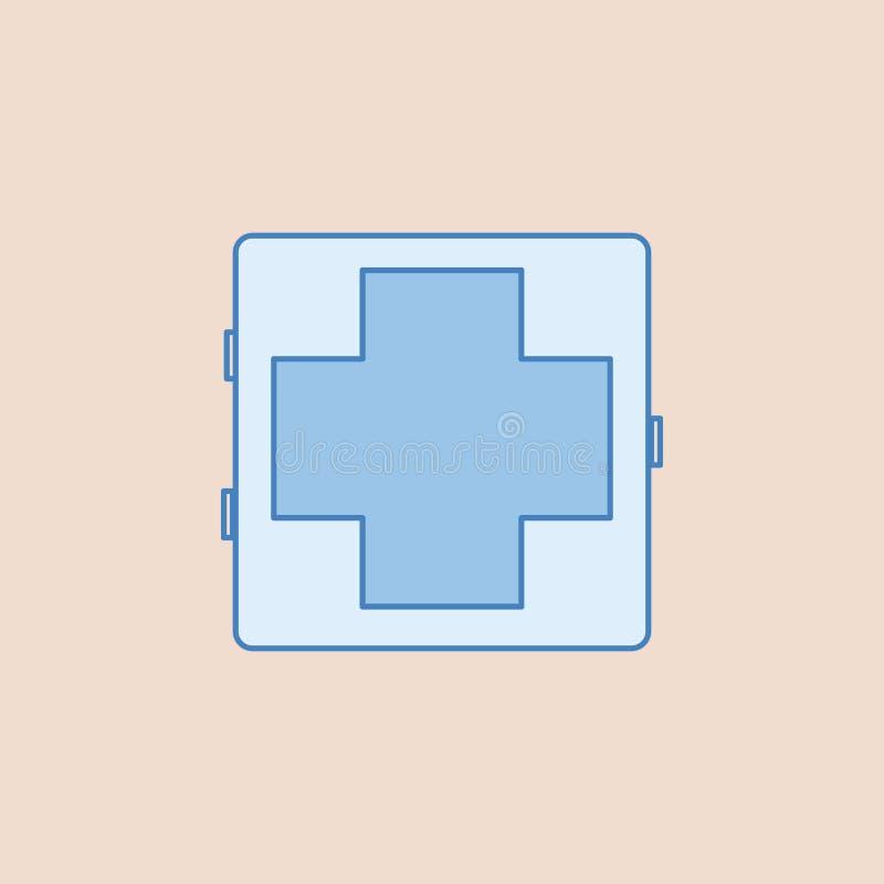 Medizinische Fallikone Element des Badezimmers für bewegliche Konzept und Netz apps Illustration Feldentwurfsikone für Websitedes lizenzfreie abbildung