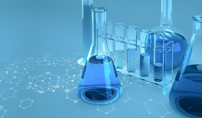 Medizinische Forschung mikrobiologie Studie der chemischen Struktur der Zellen vektor abbildung