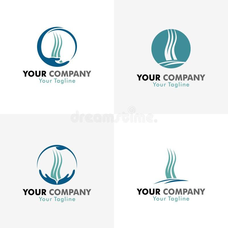 Medizinische Haar-Logos lizenzfreie abbildung