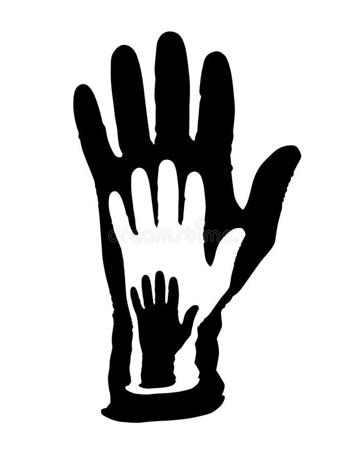 Medizinische Handschuhe stock abbildung