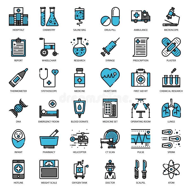 Medizinische Ikone lizenzfreie abbildung