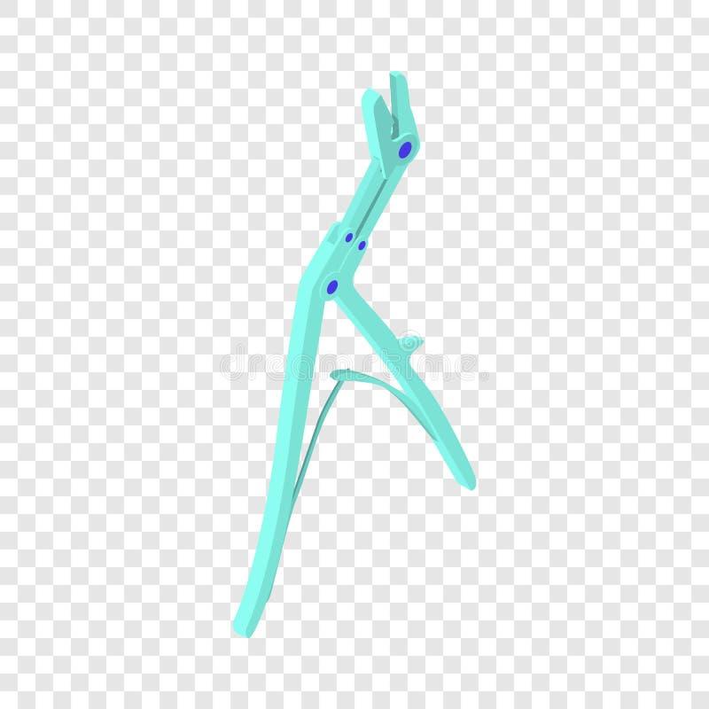 Medizinische Ikone der Zangen, isometrische Art 3d stock abbildung