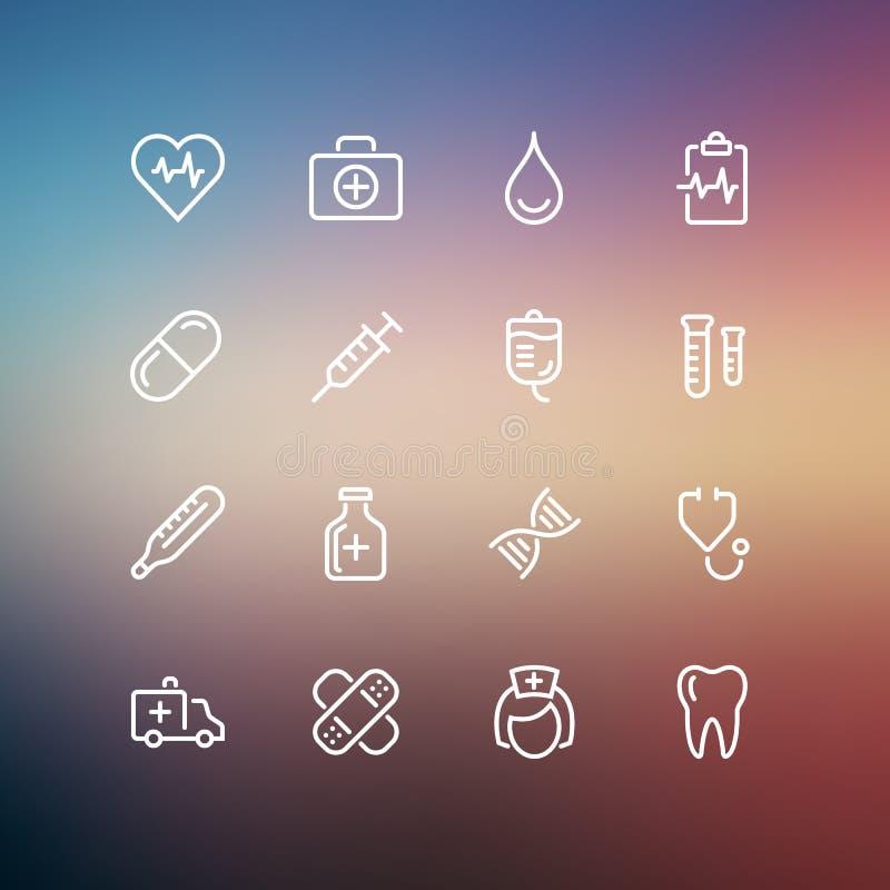 Medizinische Ikonen lizenzfreie abbildung