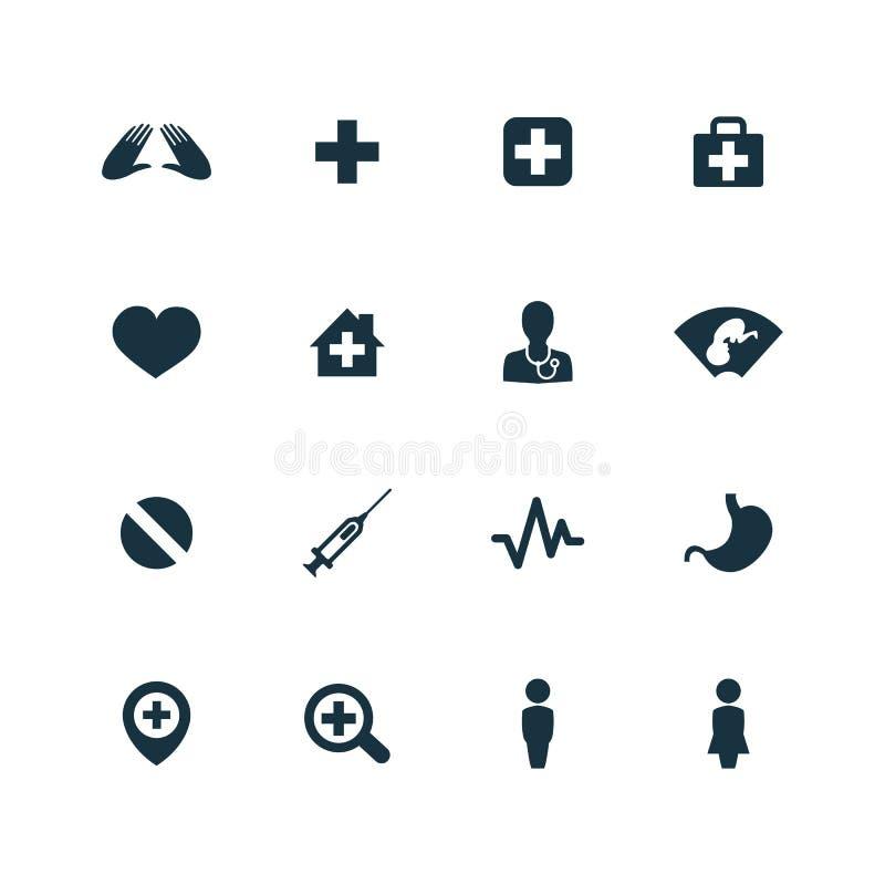 Medizinische Ikonen stellten ein vektor abbildung