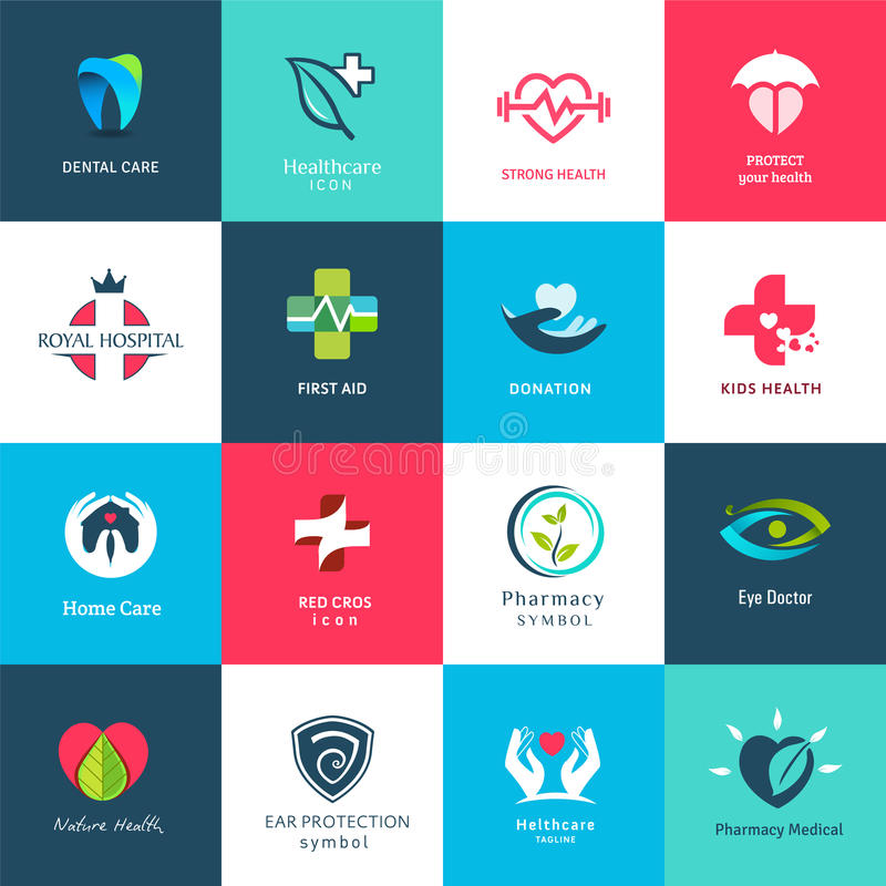 Medizinische Ikonen u. Symbolsatz lizenzfreie abbildung
