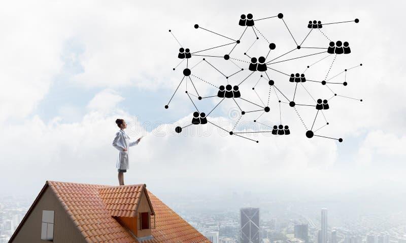 Medizinische Industrie und moderne Technologien lizenzfreies stockfoto