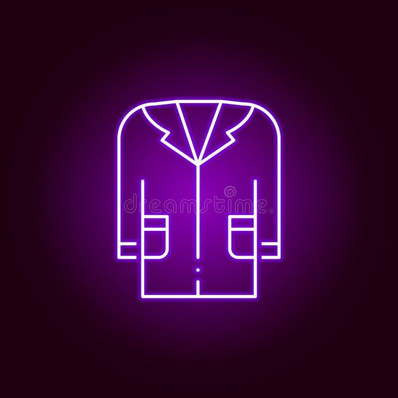 medizinische Kleiderikone Elemente der Wissenschaftsillustration in der violetten Neonartikone Zeichen und Symbole k?nnen f?r Net lizenzfreie abbildung