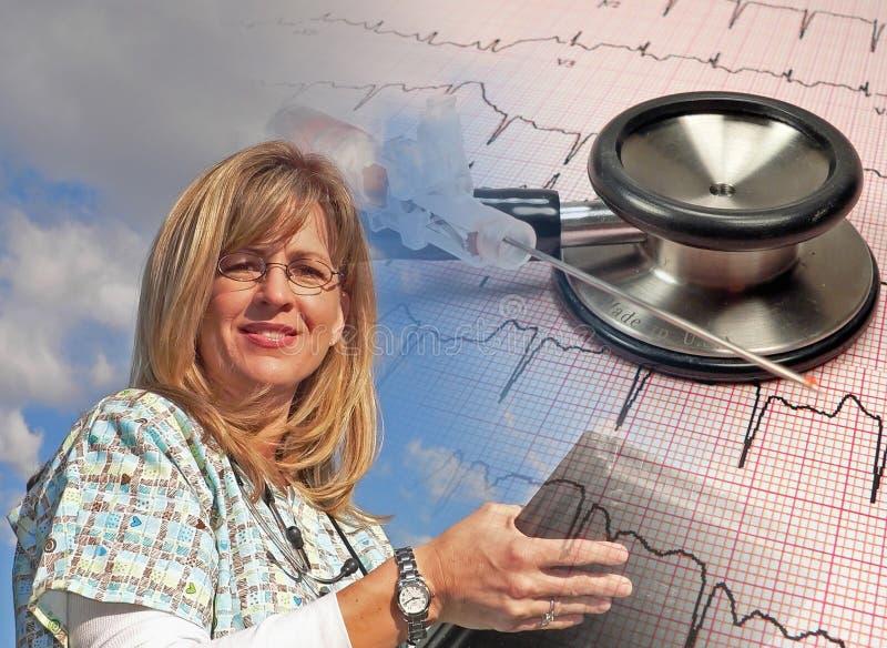 Medizinische Krankenschwester stockfoto