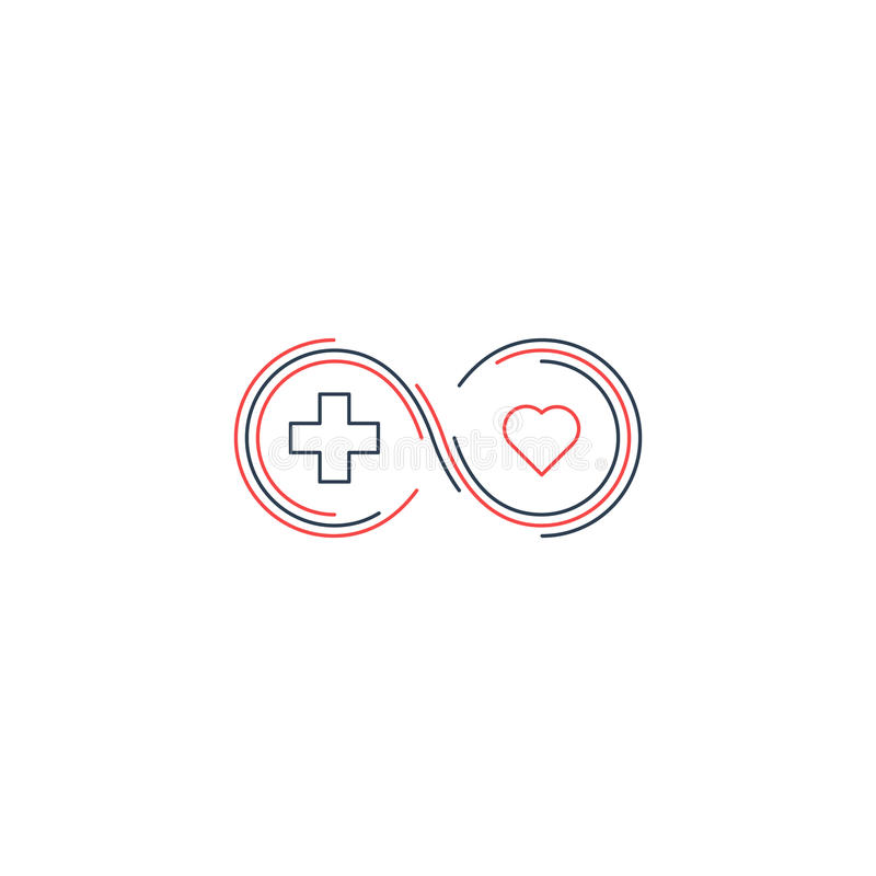 Medizinische Krankenversicherungsikone und Logokonzept stock abbildung