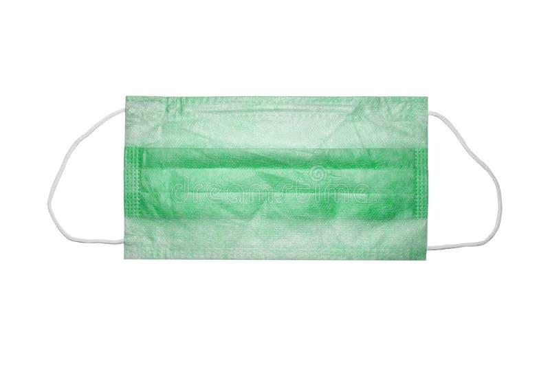 Medizinische Maske auf wei?em Hintergrund lizenzfreie stockfotografie