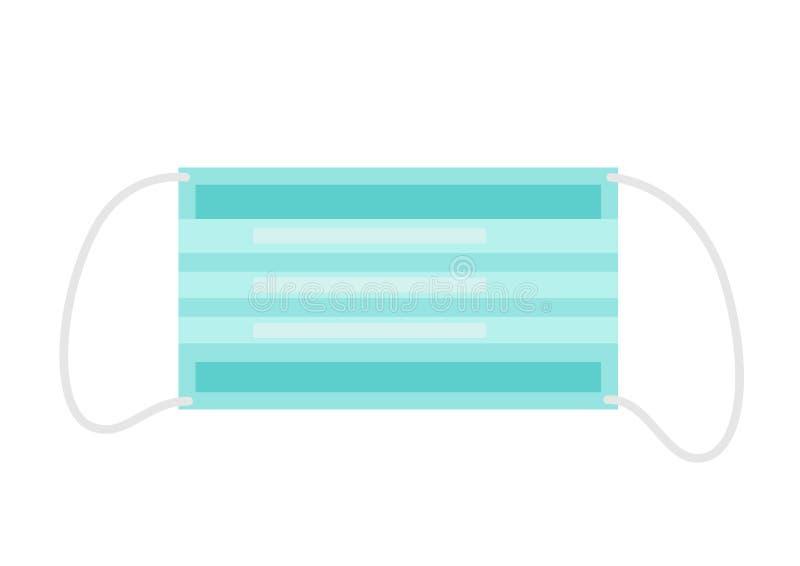 Medizinische Maskenikone in der flachen Art lizenzfreie abbildung