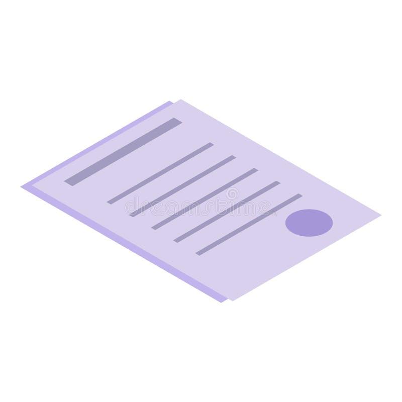 Medizinische Papierikone, isometrische Art lizenzfreie abbildung