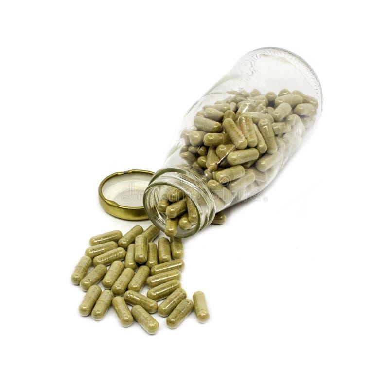 Medizinische Pille gegen Krankheiten auf einem Weiß lizenzfreies stockfoto