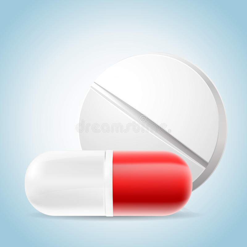 Medizinische Pillen lizenzfreie abbildung
