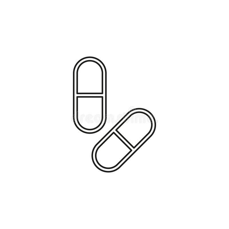 medizinische Pillen Ikone, Medizinikone, Gesundheit vektor abbildung