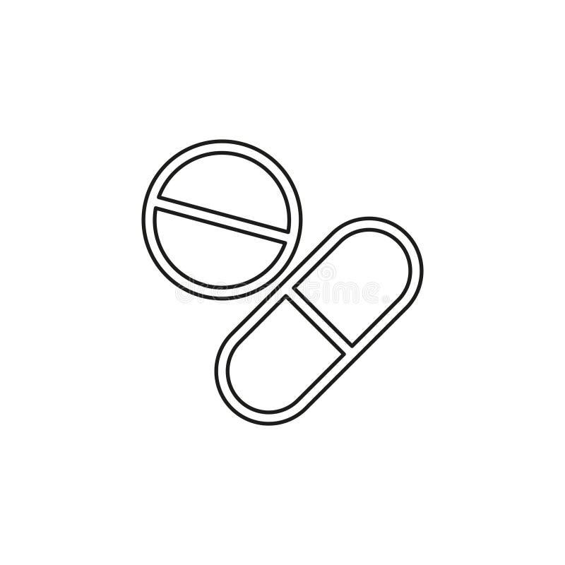 Medizinische Pillen-Vektor-Ikone vektor abbildung