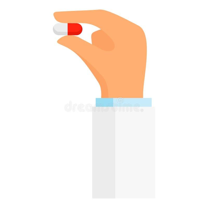 Medizinische Pillenikone, flache Art vektor abbildung