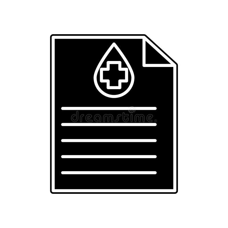 medizinische sertifical Ikone Element der Blutspende für bewegliches Konzept und Netz Appsikone Glyph, flache Ikone für Websiteen stock abbildung