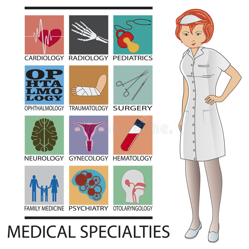 Medizinische Spezialitäten vektor abbildung