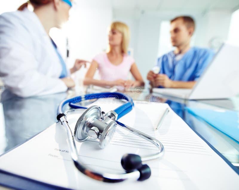 Medizinische Verordnung stockfotografie