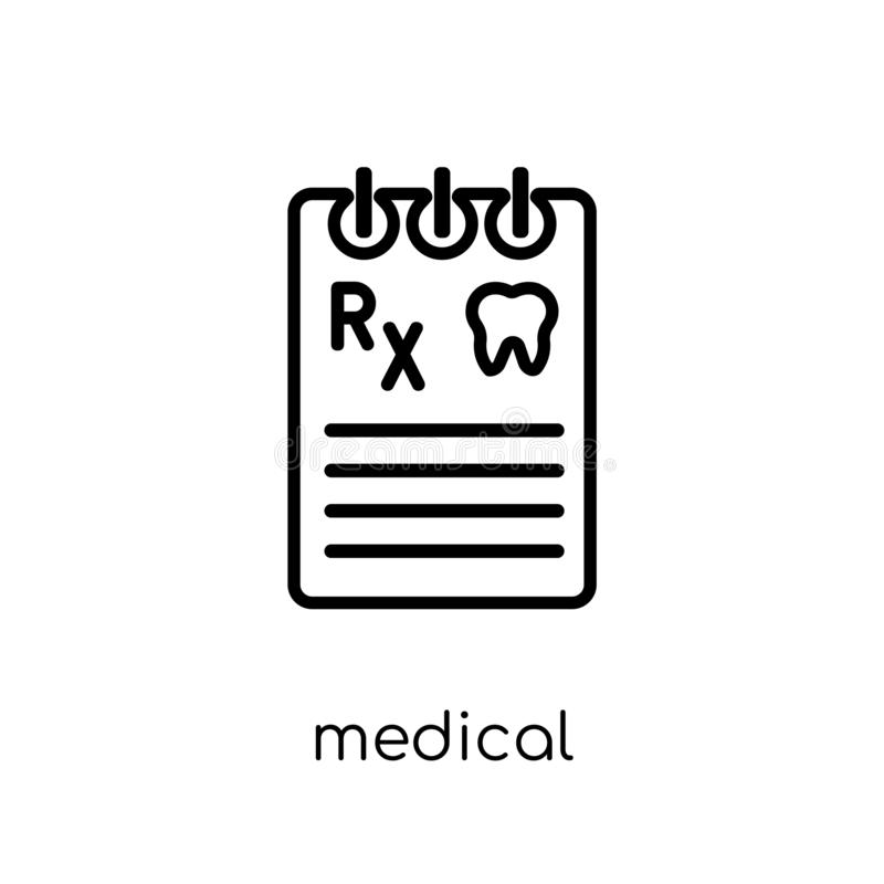 Medizinische Verordnungsikone  vektor abbildung