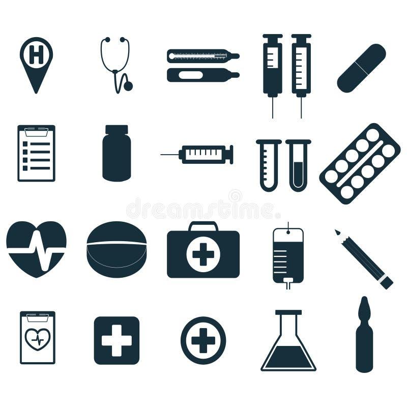 Medizinische Zeichen eingestellt lizenzfreie abbildung